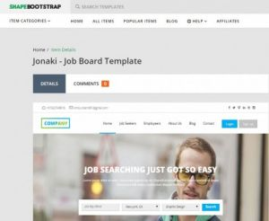 16. Jonaki Job Board Template