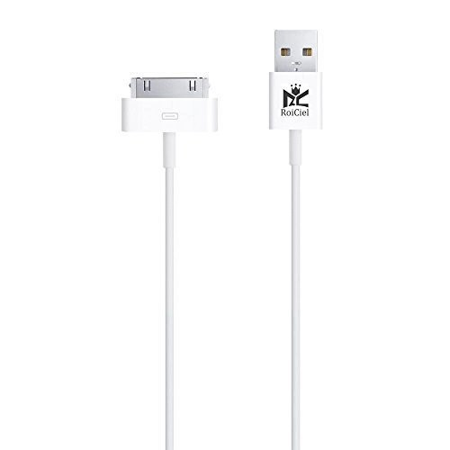 【Roiciel】iphone4/4s/ipad対応高品質30pin Dock - USBケーブル (1.0m)