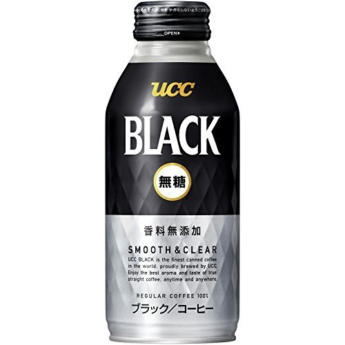 UCC BLACK無糖 SMOOTH&CLEAR リキャップ缶 375g×24本
